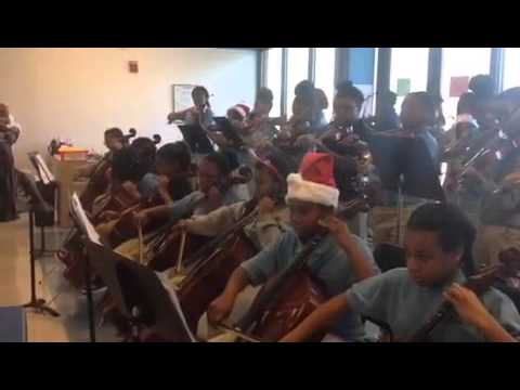 "KIPP DC Northeast Academy - 6th Grade Queens Orchestra Class - ""Carol of the Bells"""