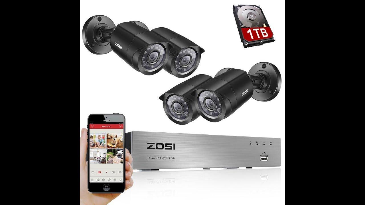 Система видеонаблюдения ZOSI HD-TVI 1080N/720P DVR 4 шт. 1.0 Мп