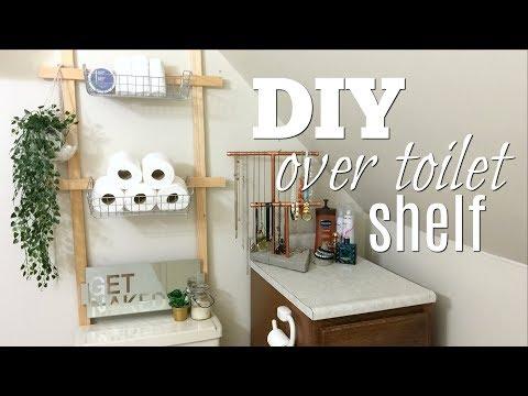 DIY Over the Toilet Shelf