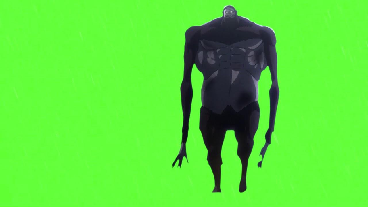 Green Screen Chromakey Anime Mask Attack On Titan Youtube