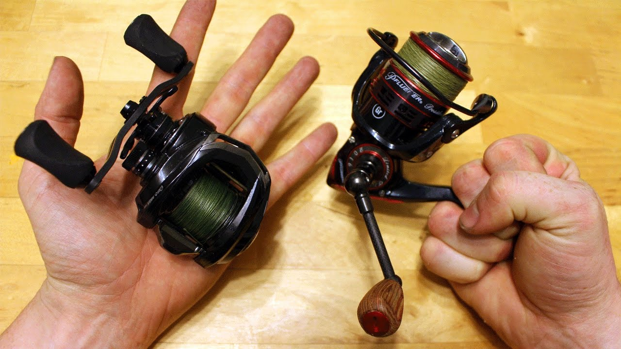 baitcaster vs spinning reel how to pick your fishing reel youtube