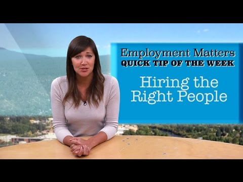 Employment Matters - The Right Interview Questions