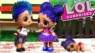 Мальчик ЛОЛ Панк Бой сбежал от куклы лол сюрприз! Интересные мультики с игрушками lol dolls