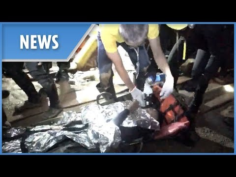 NEW: Footage of the moment Thai boys rescued