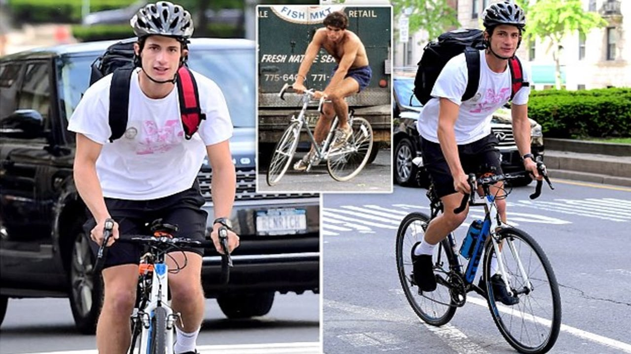Jack Kennedy Schlossberg Rides His Bicycle And He Bore A