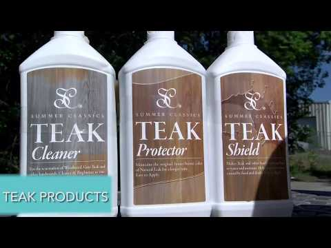 How to Clean Teak By Summer Classics Outdoor Furniture