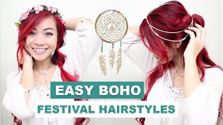 Easy Braided Hairstyles l Cute Boho Hairstyles for Spring l Coachella Festival Hairstyles
