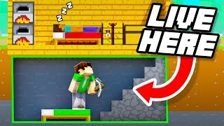 11 Secret Ways to Live INSIDE your Friends Base in Minecraft!