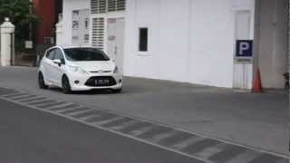 Indonesian White Ford Fiesta Trend
