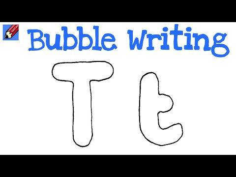 bubble letter t how to draw writing real easy letter t 20710 | hqdefault