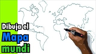 Dibujos de mapas 3/4 - Cómo dibujar un mapamundi, globo terraqueo, mapa del mundo, planeta tierra