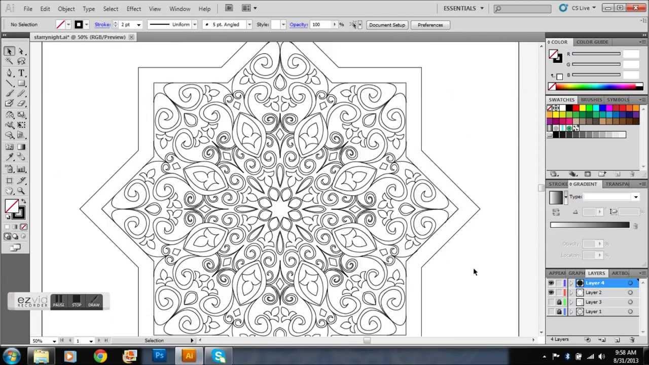 Star Shaped Islamic Pattern