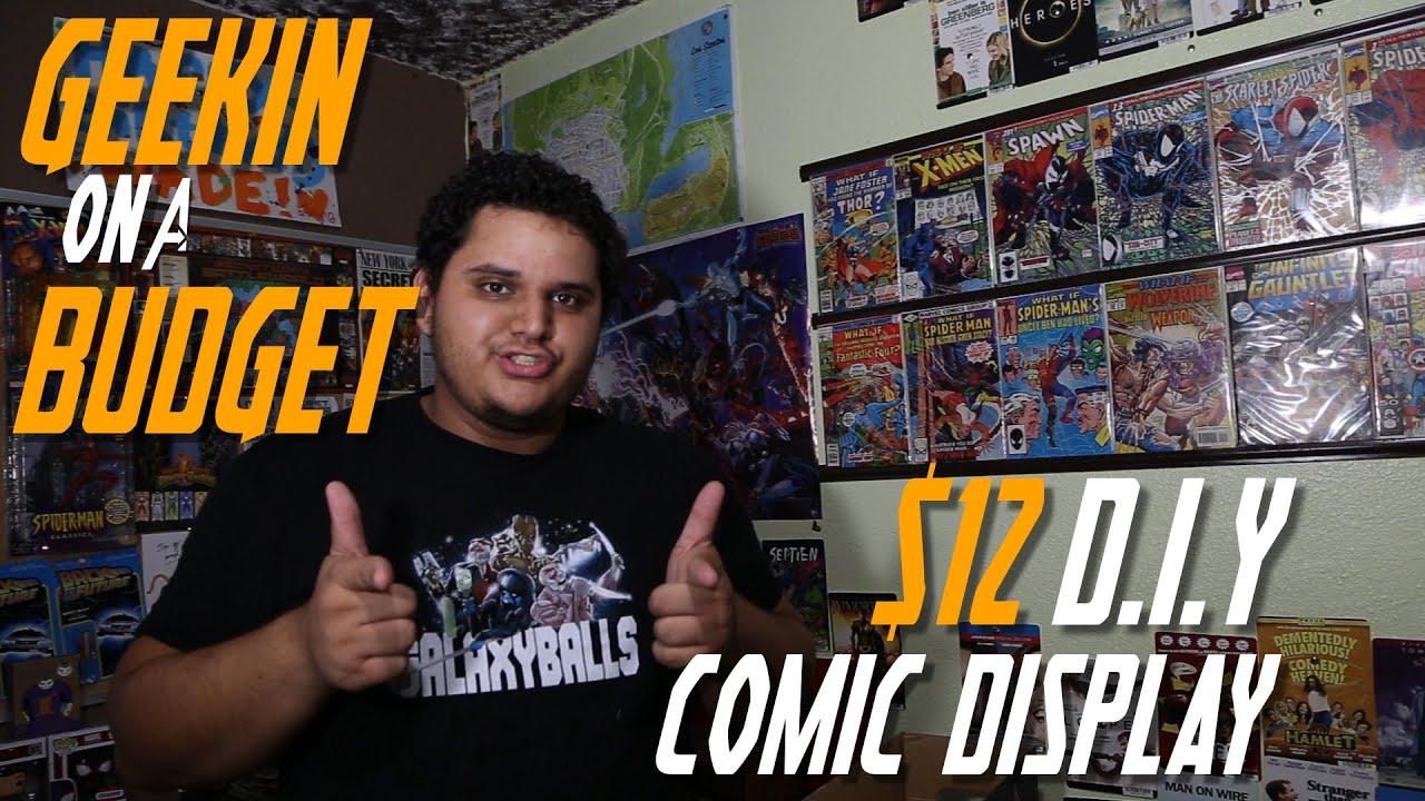 DIY $12 Comic Display - YouTube