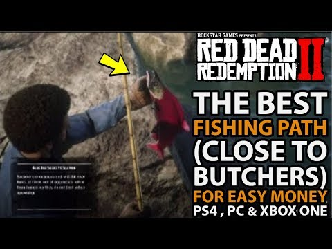 **THE BEST** FISHING PATH (Close To Butchers) For EASY Money In Red Dead Online PS4 , PC & Xbox One