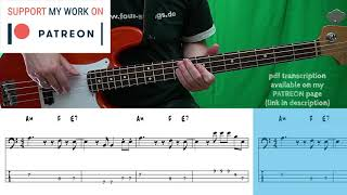 Santana - Smooth (Bass coטer with tabs)