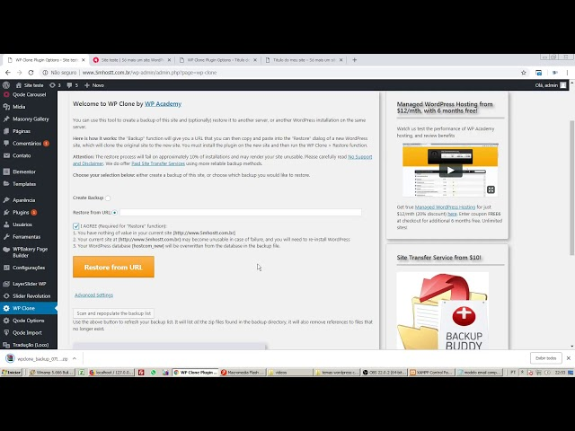 Como transferir, migrar um site Wordpress local ou do computador para web