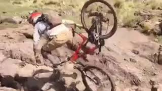 Biker Nearly Falls to Bottom of Mountain - 1010598