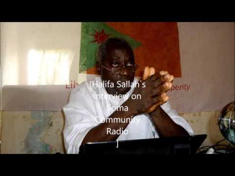 Halifa Sallah on Soma Community Radio