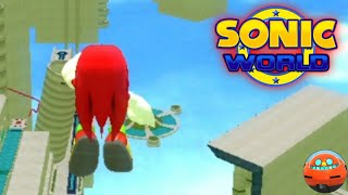 Knuckles in Sky Sanctuary - Sonic World R9 Gameplay