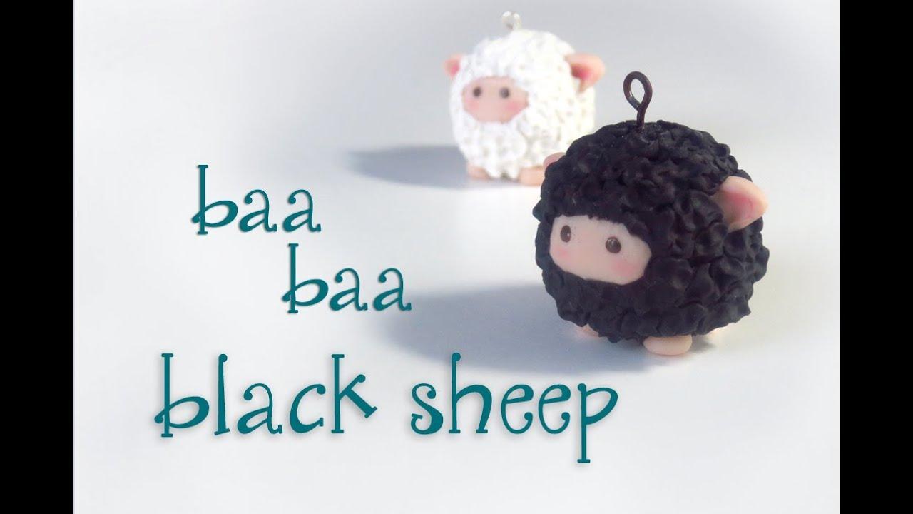 """""""Baa Baa Black Sheep"""" Polymer Clay - YouTube"""
