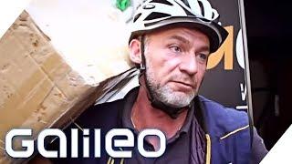 Umsatteln zum Fahrradkurier: Ein Paketbote bei der Arbeit | Galileo | ProSieben