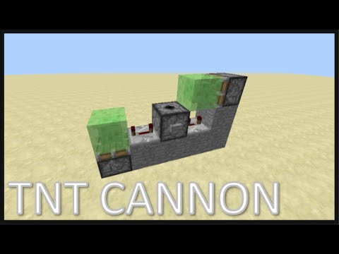 How to make a slimeblock TNT launcher in Minecraft , Quick and easy TNT launcher