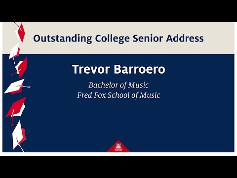 CFA Spring 2017 Graduation Convocation - Outstanding Senior Address