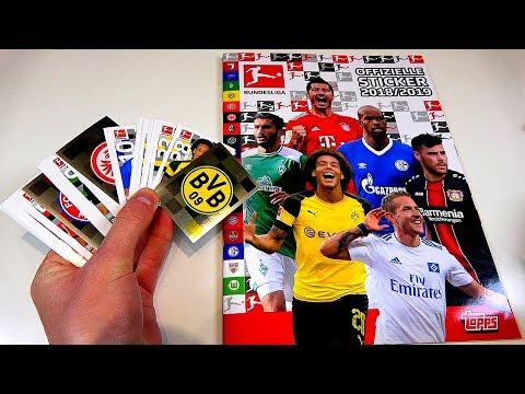 Topps Bundesliga Sticker 18/19 Einkleben | Mappenupdate