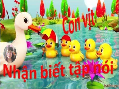 Nhận biết tập nói lấy trẻ làm trung tâm - Nhận biết  tập nói con vịt - Phương Nguyễn