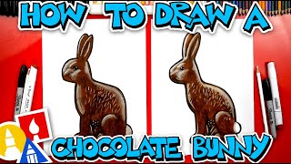 How To Draw A Chocolate Easter Bunny #stayhome and draw #withme