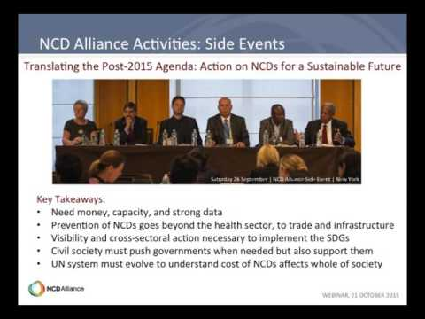 NCD Alliance Webinar, October 2015