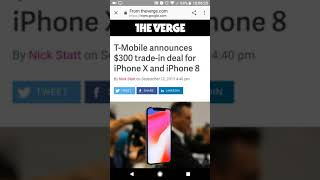 T-Mobile offers $300 trade in towards new iPhone x, 8, and 8+