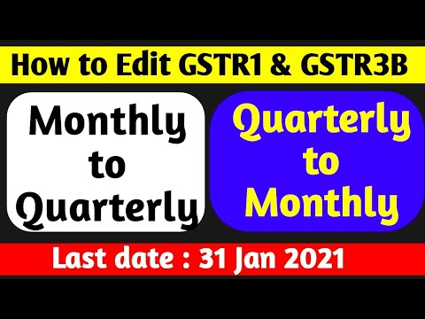 GSTR1 Filing Wrongly Selected Monthly Option | How to Change/Edit GSTR1 Monthly to Quarterly Option