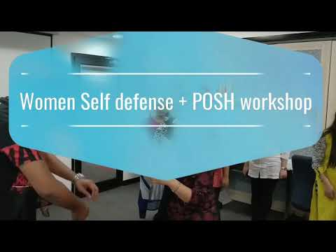 Self defense training with a lot of fun with FEMME-POWER