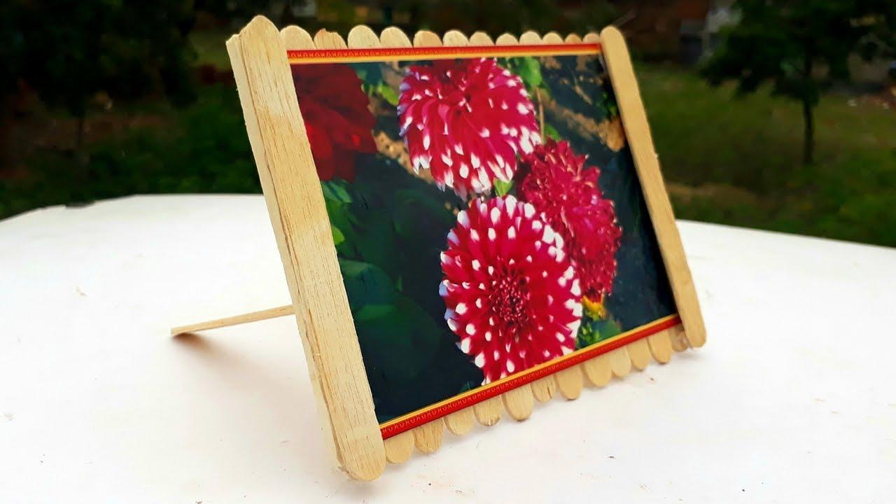 Youtube Art And Craft: How To Make Ice Cream Stick Photo Frame.Diy Ice Cream