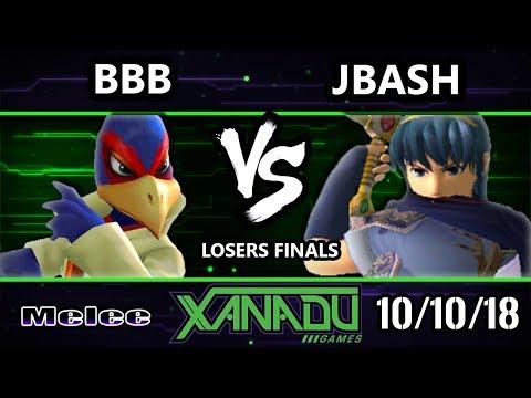 S@X 271 SSBM   JBash Marth Vs  BBB Falco Smash Melee Losers Finals