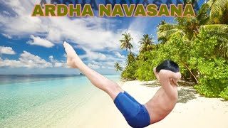 Ardha Navasana /Beneficial for Women because they need strong back for child bearing /