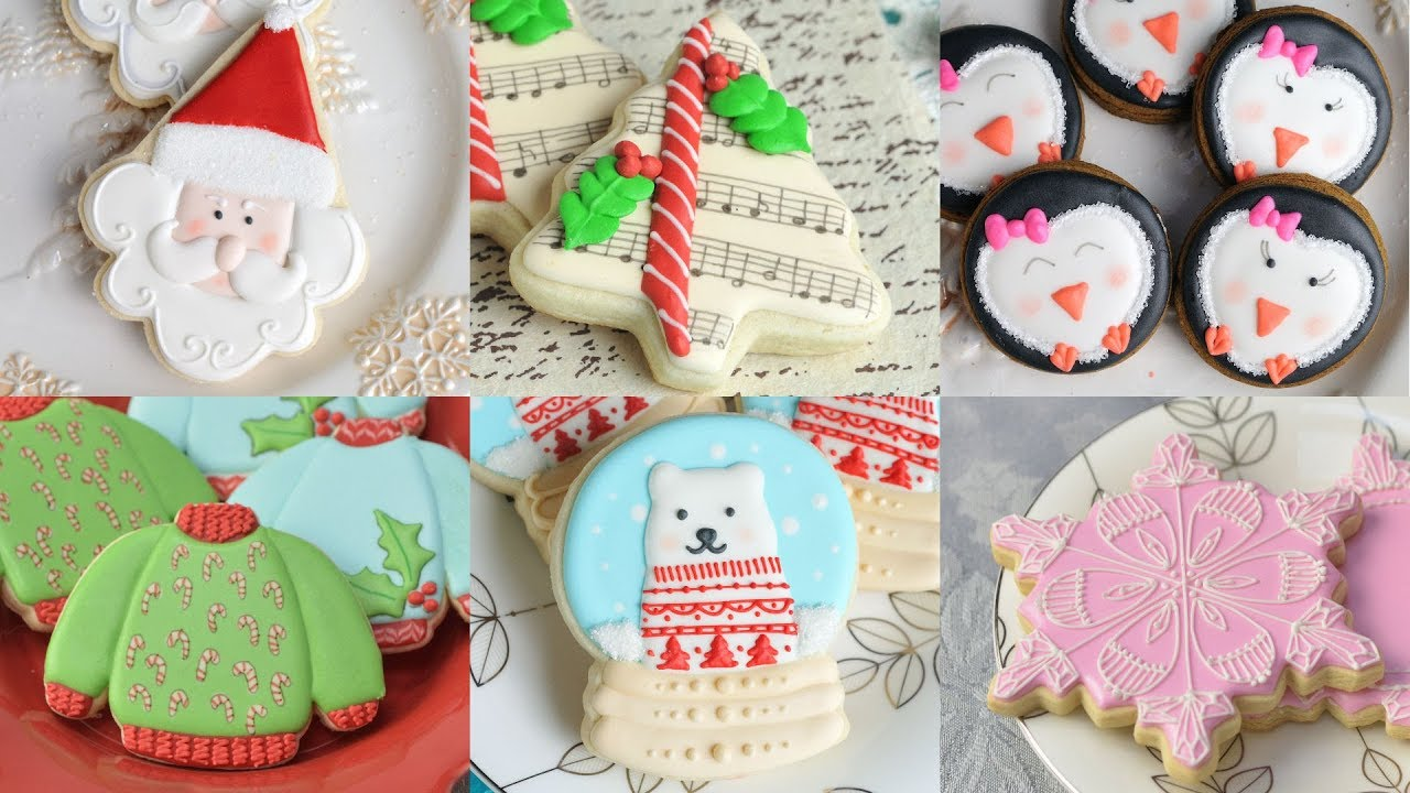 10 AMAZING CHRISTMAS COOKIE DESIGNS by HANIELA'S - YouTube