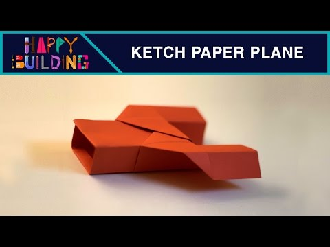 How to make paper airplane out of square
