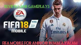 FIFA mobile new 😀andriod game /how to download//reviews//gameplay in Malayalam💯👍