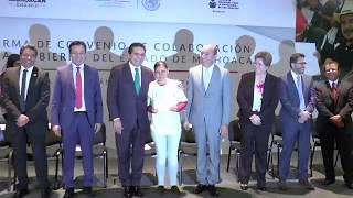 Firma Convenio de Colaboración INEA - Michoacán