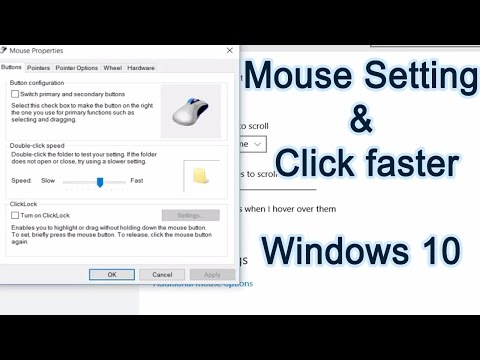 Customize your mouse settings | Fast click & Pointer Speed up
