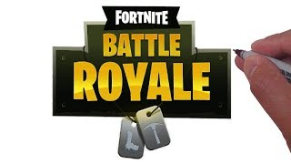 How to Draw FORTNITE BATTLE ROYALE Logo