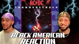 BLACK AMERICAN FIRST TIME HEARING| AC/DC - THUNDERSTRUCK (EPIC REACTION!!)