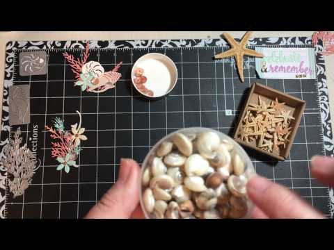 Embellishments #13 Using Real Items Copied (shells, Starfish)