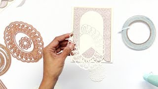 how to use partial die cut pieces as accents on cards with becca feeken spellbinders