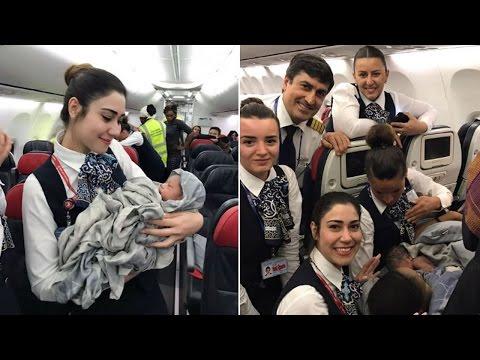 Baby Born Mid-Flight With Help of Turkish Airlines Flight Attendants