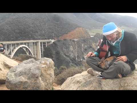 Lonnie Campbell Sings with Rabbits On His Head near Big Sur