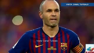 Don Andrés Iniesta jugó su último partido como jugador del FC Barcelona Video