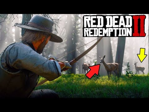 How to Hunt in Red Dead Redemption 2! Hunting Guide RDR2 Gameplay